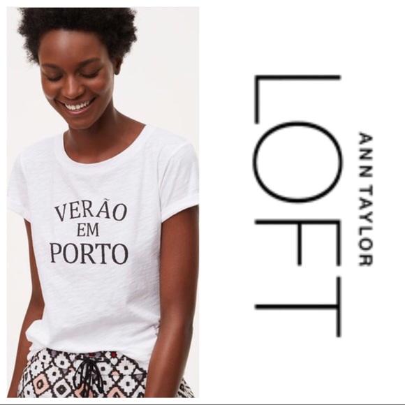 c0223eb1bfb02 LOFT Tops - LOFT Verao em Porto Graphic Tee